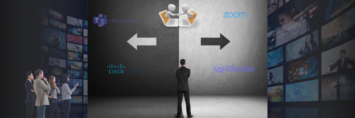 man deciding on enterprise video conferencing platforms