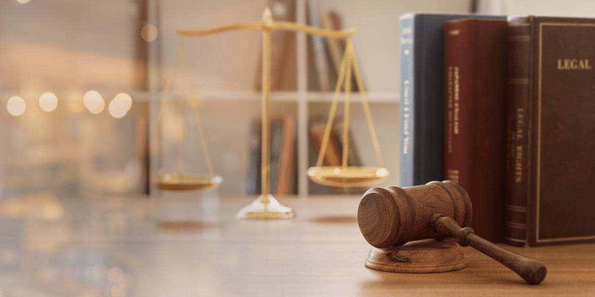 gavel and legal books on a table
