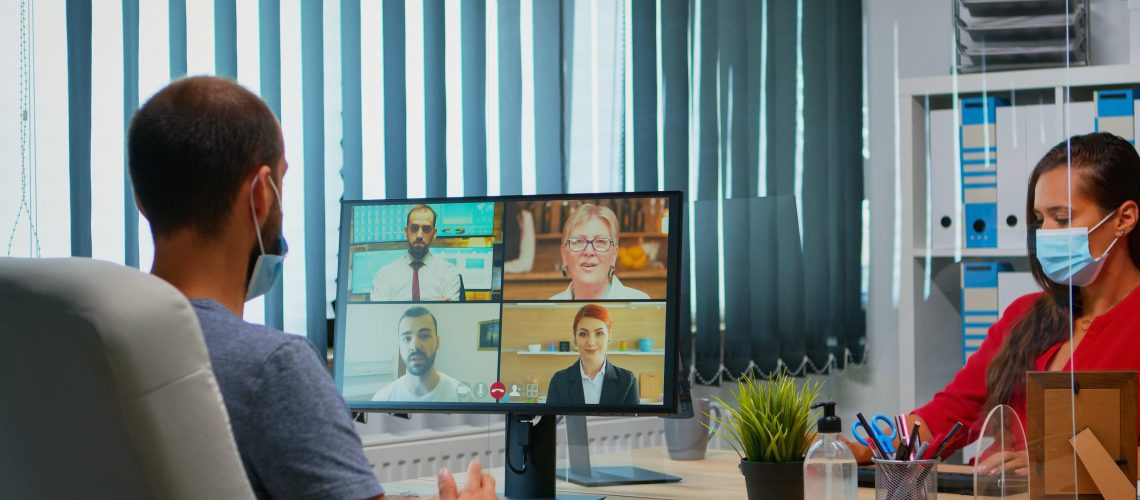 Connect remote and onsite workers with video collaboration tools.